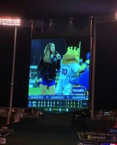 Abby Jeans part of the KC Royals Dancing K Crew