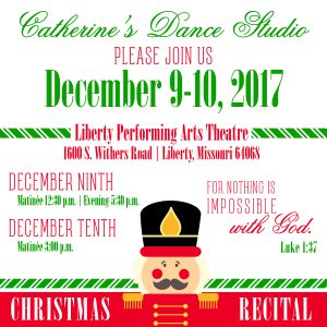 Mark your calendars for our Christmas Recital.