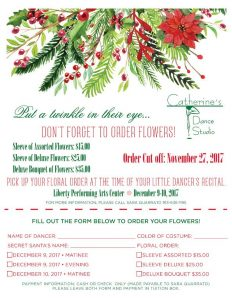 Order your Christmas Recital Flowers Today