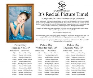 Check times for your Christmas Recital Portrait session